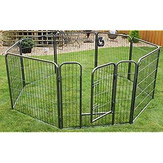 RayGar® Heavy Duty 8 Panels Enclosure Dog Pet Cat Pen Cage Puppy Play Fence Run Medium 80 x 80 cm – New 618XS 2B8PWvL