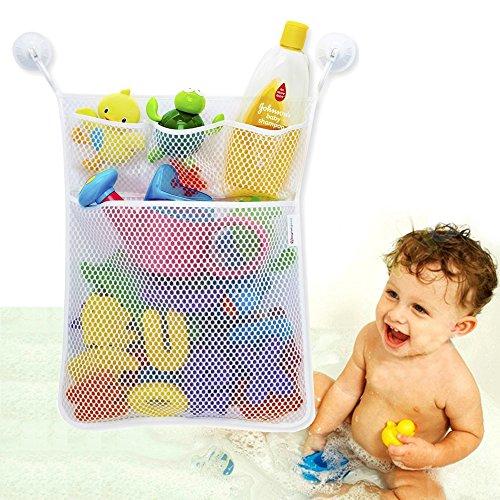 jouet-de-bain-organiseur-poches-multiples-bonus-de-3-tasses-serrure-resistante-a-ventouse-et-durable