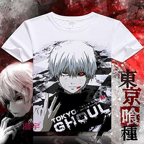 Sunkee Nueva Animado Japonés Tokyo Ghoul Te de La Camiseta - Ken Kaneki ( Se puede elegir el tamaño correcto según la carta del tamaño en la Amazonía) (XXL, La Camiseta)