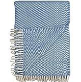 Roros Tweed Plaids–finewool Überwurf mit Fransen: Lavendel (220cm x 140cm)