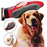 Pet Glove,Amytech 2 in 1 Pet Glove Grooming Tool Furniture Pet Hair Remover Mitt For Cat and Dog Long & Short Fur Gentle Deshedding Brush Rubber Tips