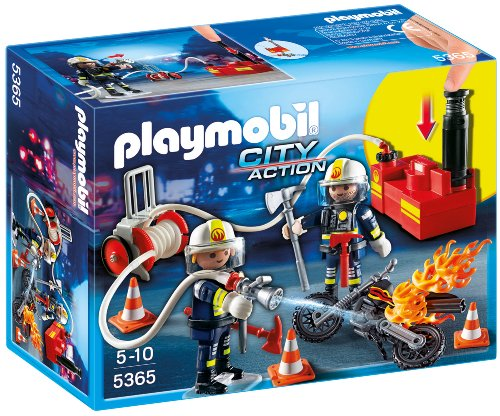 Playmobil 5365 - Feuerwehrmänner Mit Löschpumpe
