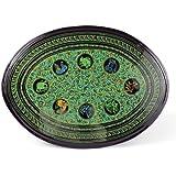 Farang birmano Lacquerware diseno del zodiaco mesa oval ocasional