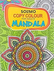 Amazon Brand - Solimo Copy Colour for Adults - Mandala