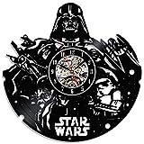 Star Wars Noir décoratif horloge murale Disque Vinyle