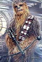 Maxi poster 61 x 91,5 cm di Star Wars The Last Jedi con stampa Chewbacca Bowcaster.