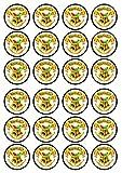 24essbare Muffindekorationen mit vorgeschnittenen Hogwarts-Wappen-Motiven,Oblaten, runde Kuchendekorationen von Stand Up, PRECUT