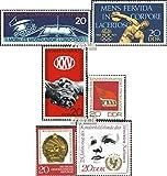 DDR 1659,1660,1667,1679,1688, 1690 (kompl.Ausg.) 1971 Lunochod, NOK, SED, Mongolei, UNICE (Briefmarken für Sammler)