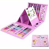 Estuche Colores,Niños Acuarela Lápiz Niños Dibujo Kit de Artista Lápices de Colores Set Crayón Pintura al óleo Brocha Herrami