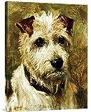 Global Galerie Budget gcs-264868–76,2–360,7cm John Emms Portrait Of A Terrier: Darkie Galerie Wrap Giclée-Kunstdruck auf Leinwand Art Wand