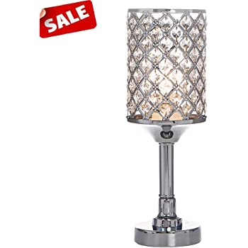 crystal steel table lamps 2 pack