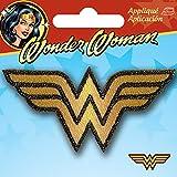 Simplicity Wonder Woman Logo Bügelbild Aufnäher, Polyester, mehrfarbig, 8.05X 0,2X 7.59cm