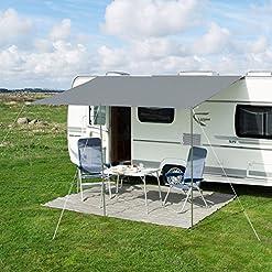 Tenda parasole Playa Sun grigia da 240cm per caravan, roulotte e camper