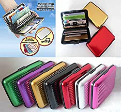 Aluma Wallet Slim Unisex Security Credit Debit Card Cash Visiting Card Holder