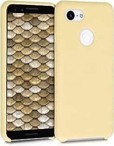 Kwmobile Hülle Kompatibel Mit Google Pixel 3 Handyhülle Gummiert Handy Case In Hellgelb
