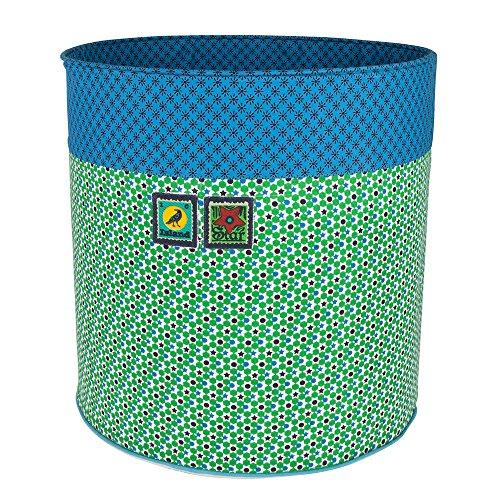 Colorique Chokhi Timbres Boîte de Rangement étoiles Vert Large, diamètre 40 x 40 cm, Vert, Bleu