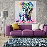 CanVivi Leinwanddruck Wandbild Elefant Mehrfarbig Wand Bilder Wanddeko ohne Bildrahmen ,Groß