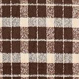 Fabulous Fabrics Mantelstoff Kariert - braun/Hellbraun -