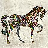 NEW HORSE STICKER MURAL PRETTY WALL STICKER GIRLS BEDROOM LOUNGE HORSEY RIDING