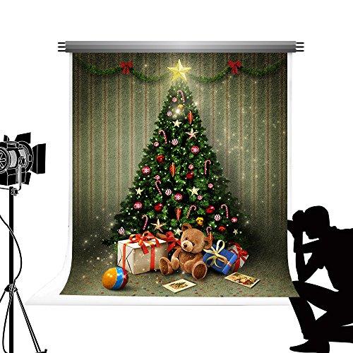 Kate Foto Hintergrund Grün Weihnachtsbaum Hintergrund für Fotografie Bokeh Dekorationen Photocall für Weihnachten Fotografie 5x7ft / 1.5x2.2m