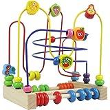 Jouets en Perles Bois 2 EN 1 Jeux de Boulier Labyrinthe de Fruits Jouet de Montessori Bebe Circuit Jeux Éducatifs Cadeau pour