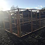 4wire DOG RUN ANIMAL ENCLOSURE 12ft x 8ft & 6ft high 16G Wire Chicken Rabbits Dogs Cats Birds Puppy Fox Proof 618YrJGFddL
