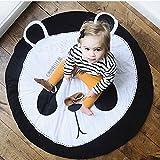 Ustide Baby-Kriechteppich, Krabbeldecke, Schlafteppich, Anti-Rutsch-Spielmatte für Kinder, Baumwoll-Spielmatte, Spieldecke, umweltfreundlicher Teppich, Kinderzimmer-Deko, 95 x 95 cm, baumwolle, panda, 95 cm