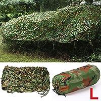 Yahee Outdoor Tarnnetz Waldlandschaft Waldtarnung Netz mit Tragtasche aus Polyester, 7 x 1,5M