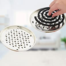 Lepakshi Spreey Mosquito Coils Holder Large Hotel Metal Repellent Rack with Cove