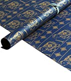 #10: TDB Hathi Italian Tinted Gift Wrapping paper Pack of 6 Sheets with 12 Gift tags and 6m ribbon/paper rope