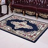 KOOCO Im europäischen Stil Maschine gewebten Teppich Obi-Pine zarte Luxus Barock High-End-Wolldecke mit Blumen Muster für Dekorieren Wohnzimmer, als Bild, 130cmx190cm