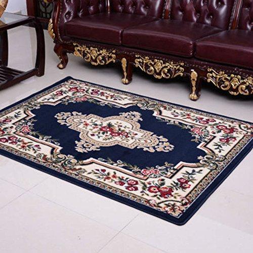 KOOCO Im europäischen Stil Maschine gewebten Teppich Obi-Pine zarte Luxus Barock High-End-Wolldecke mit Blumen Muster für Dekorieren Wohnzimmer, 160cmx230cm