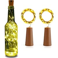 Lexton 20 LED Wine Bottle Cork Lights Copper Wire String Lights, 2M/7.2FT Battery Operated  for Indoor & Outdoor…