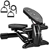 DACHUANG Home Steppers for Fitness & Exercise, Stepper Exercise Machine with LCD & Resistance Bands, Aerobic Stepper Machine