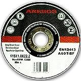 Assortiment de 400 disques à tronçonner à moyeu déporté pour Métaux Diamètre 115 mm Diamètre d'alésage 22,23 Epaisseur 1,0 mm 200 disques