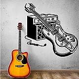Die besten billige elektrische Gitarre - Mhdxmp Wandaufkleber Elektrische Gitarre Wandtattoos Rock Pop Musik Bewertungen