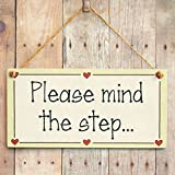 Please mind the step... - Functional Stairs Step Gift Love Heart Frame Sign