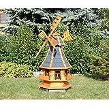 Dekorative Windmühle mit Solar blau Typ 4