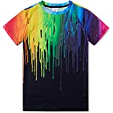 RAISEVERN Divertente Unisex Kids 3D Stampato T-Shirt Casual Tops Tees Cool Manica Corta per Teenager Ragazzi Ragazze 6-16T