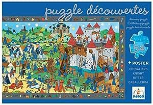 Djeco - Puzzle d'observation 54 pièces - LES CHEVALIERS