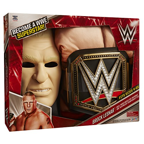 WWE 2230 Wrestling-Star Brock Lesnar Deluxe Kostüm, schwarz, One Size