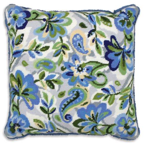 Anchor Stickkissen Blumenwandteppich/Paisley, Blau -