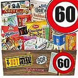 DDR Suessigkeiten-Box | DDR Box XXL | Zahl 60 | Geburtstag Mama