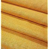 JUTE N FABRICS,Laminated Orange Color Jute Fabric, 48 INCH Width Five MTR Packing, Used for Making Jute Bags, Art & Craft,Home DECORE, Matting