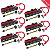 PCIe Riser, N.ORANIE 6-Pack PCI Extender Cable 16X to 1X...