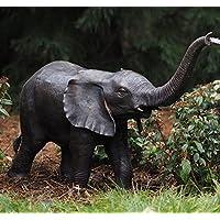 Bronzefigur Elefanten-Kalb als Wasserspeier