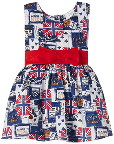 Doodle Baby Girls' Dress (FDSWN2049 B BB_Blue_6-12 months)