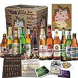 12x Deutsche Bierspezialitäten'BIER TASTINGBOX DEUTSCHLAND' MGB 24 + 4 BIERDECKEL + BIER TASTINGANLEITUNG