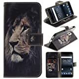 CLM-Tech Case for Nokia 6, Wallet Synthetic Leather Flip