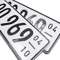 schildEVO 2 Carbon Kfz Saison Kennzeichen   OFFIZIELL amtliche Nummernschilder   DIN-Zertifiziert – EU Wunschkennzeichen…